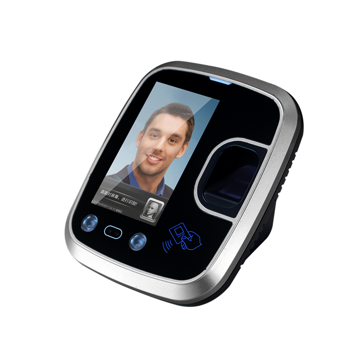 Web Server SDK 4.3 Inch Touch Screen Biometric Time Attendance Door Access Face Fingerprint Wifi
