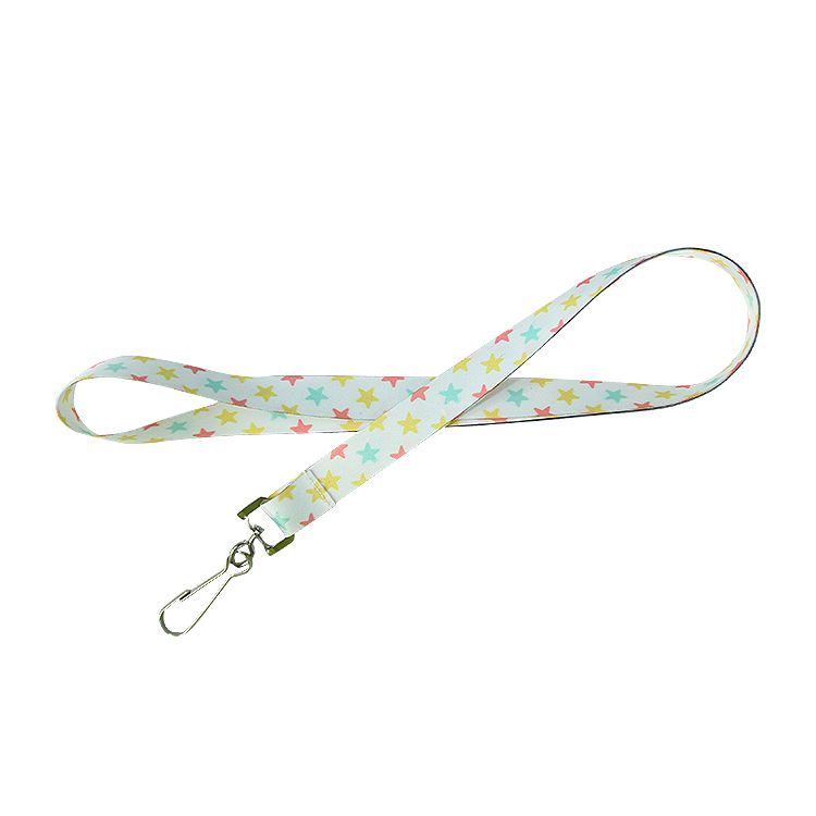 Polyester Material Cheap Double Woven Lanyard Designer Lanyard Keychain with Metal Hook