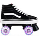 New Design Professional Quad Roller Skates Canvas Shoes With Flash Wheels
