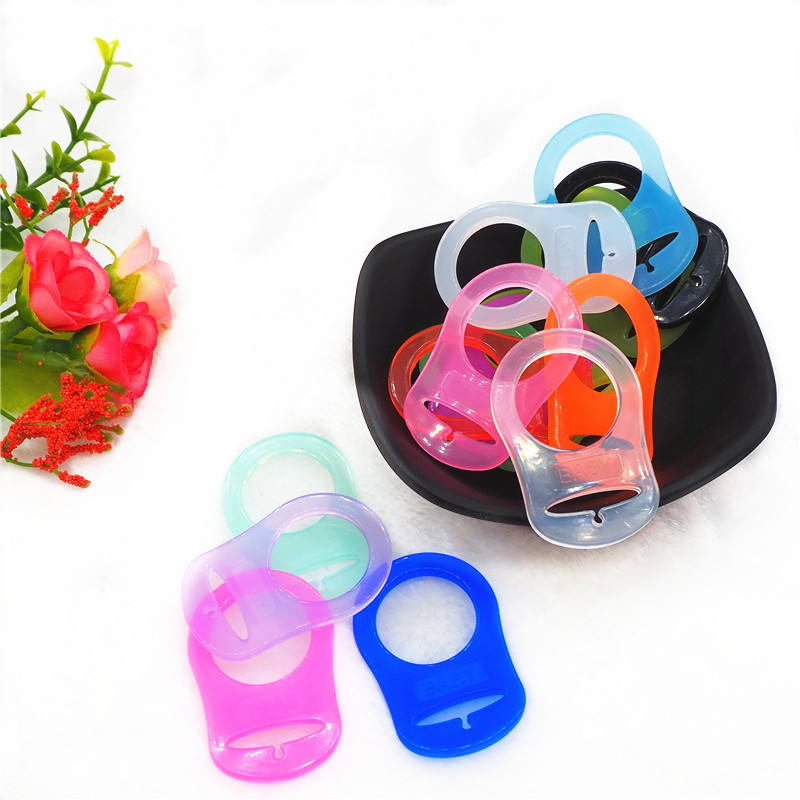 Manufacturer Wholesale Made From Food Grade Silicone Baby Mam Pacifier Dummy Clip Adapter Ring