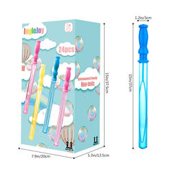 Birthday Party Toy Non-toxic Smelless 24 Pcs Bubble Wand Set For Kids Child