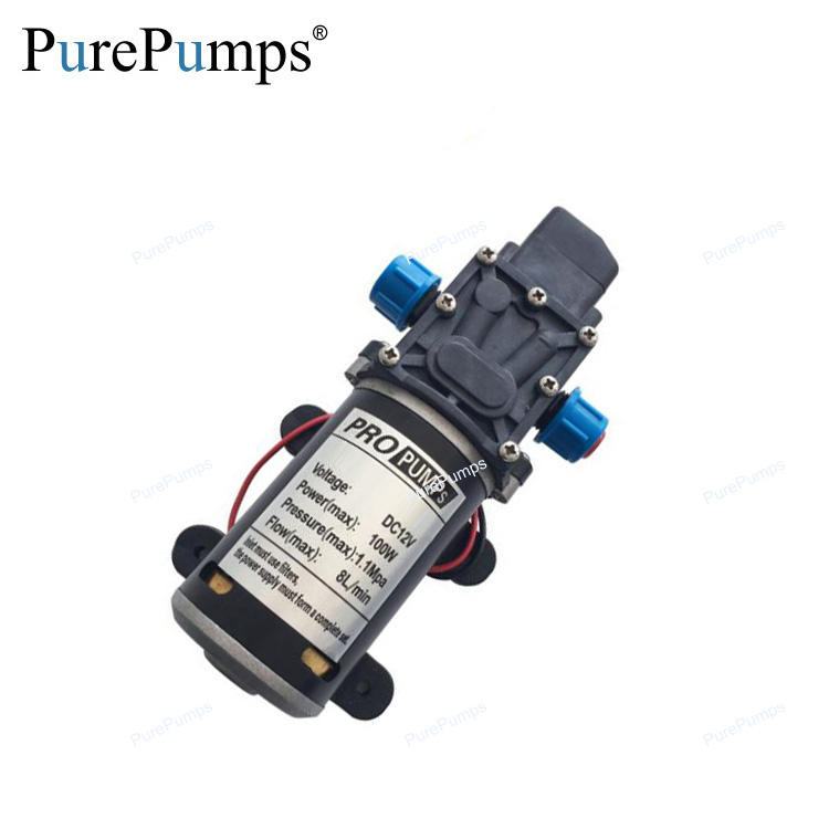 PurePumps High pressure Micro electric diaphragm pump 3210YD 12V 100W High pressure Large flow Self-Priming pump 1.1MPa