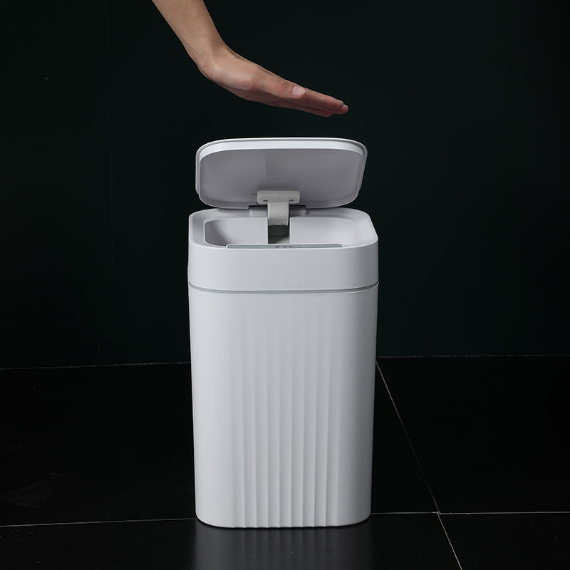 12L Water proof Household Automatic USB Charging Battery White 10L Cheap Electric Trash can