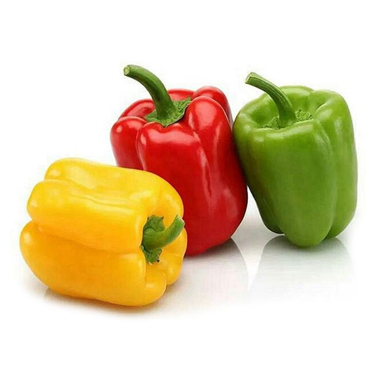 fresh green yellow red chili bell pepper