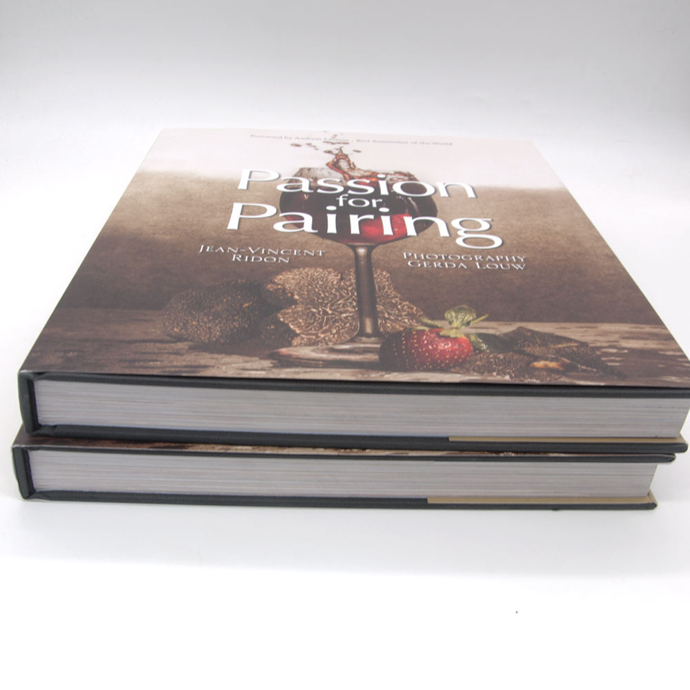 Custom Books On Demand Full Color Hardcover Book Case Bound Dust Jacket Printing
