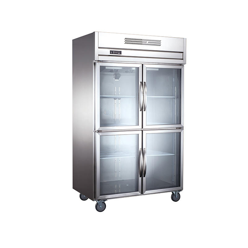 2020 New Product High Quality Popular 4 Door Chiller Commercial Refrigerator For Fruits And Vegetables