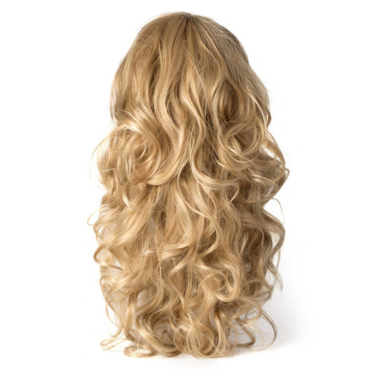 Factory direct selling European and American realistic long curly wigs hair extensions wigs