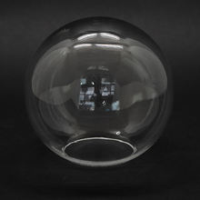 Wholesale decorative flower preserve round shape empty clear glass snow globe dome glass display cases dome