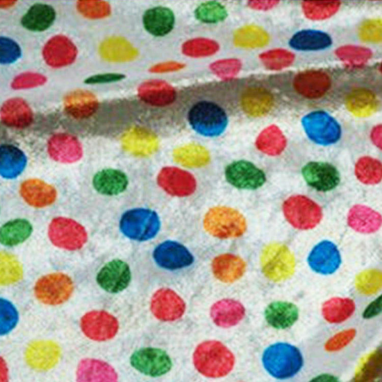 Plaid Polka Dot Fabric Polka Dot Fabric Fashion Colorful Polka Dot Polyester Knit Super Soft Upholstery Sofa Quilt Cover Cloth Fabric