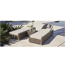 wicker resin outdoor sun lounger swimming pool lounge chair