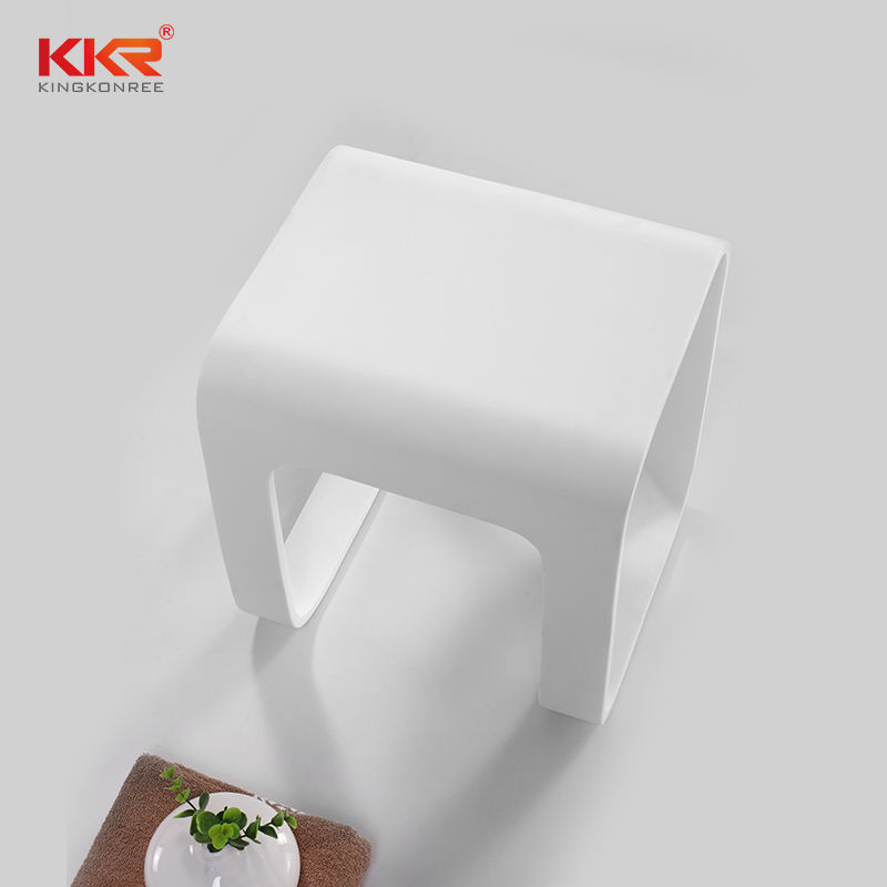 N shape Solid Surface chair for Bathroom Shower Seat