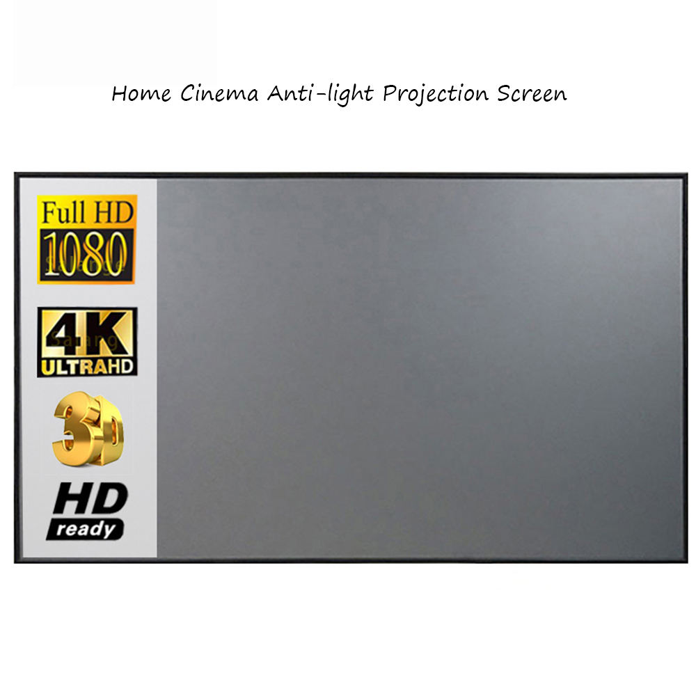 Cheapest 100inch 3D Anti-light Foldable Portable projector screen