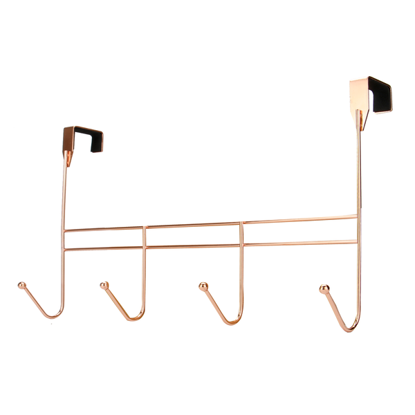 Widely used Metal Over Door 4 Rose gold Decorative Back Towel Clothes Coat Hook