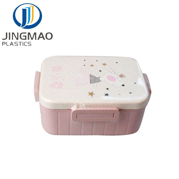 Modern [ Lunch Box ] Straw Lunch Box Wheat Straw Biodegradable 100% Compostable Portable School Food Contain For Kids Microwavable Bento Lunch Box With Cutlery