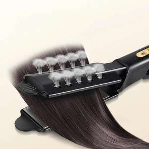 Hair Straightener Four-gear Temperature Adjustment Ceramic Tourmaline Flat Iron Steam Hair Straightener Widen Panel Hair Curler