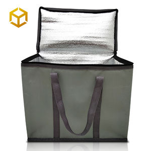 Quality Thermal Shopping Picnic Lunch Pizza Food Delivery Tote Ice Cream Outdoor Aluminum Custom Insulated Cooler Bag