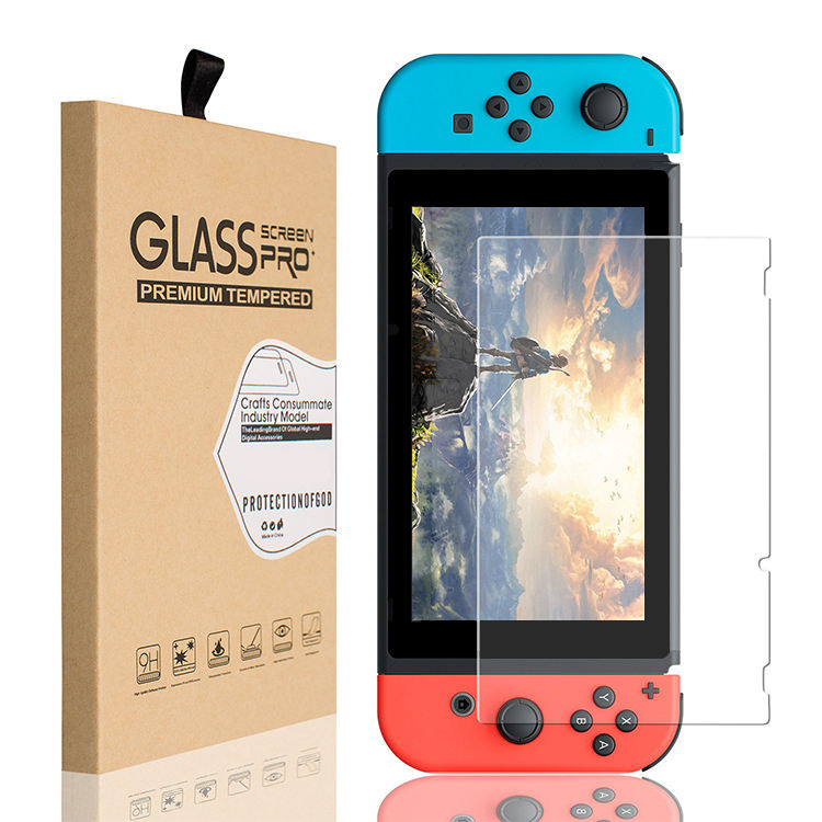 2.5D Ultra Clear Game player 9H Tempered Glass for Nintendo Switch Screen Protector for Nintendo Switch Lite With Retail Box