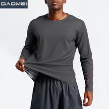 Custom Logo Workout Clothing Men's Fitness Long Sleeve Plus Size Running Sports T Shirts