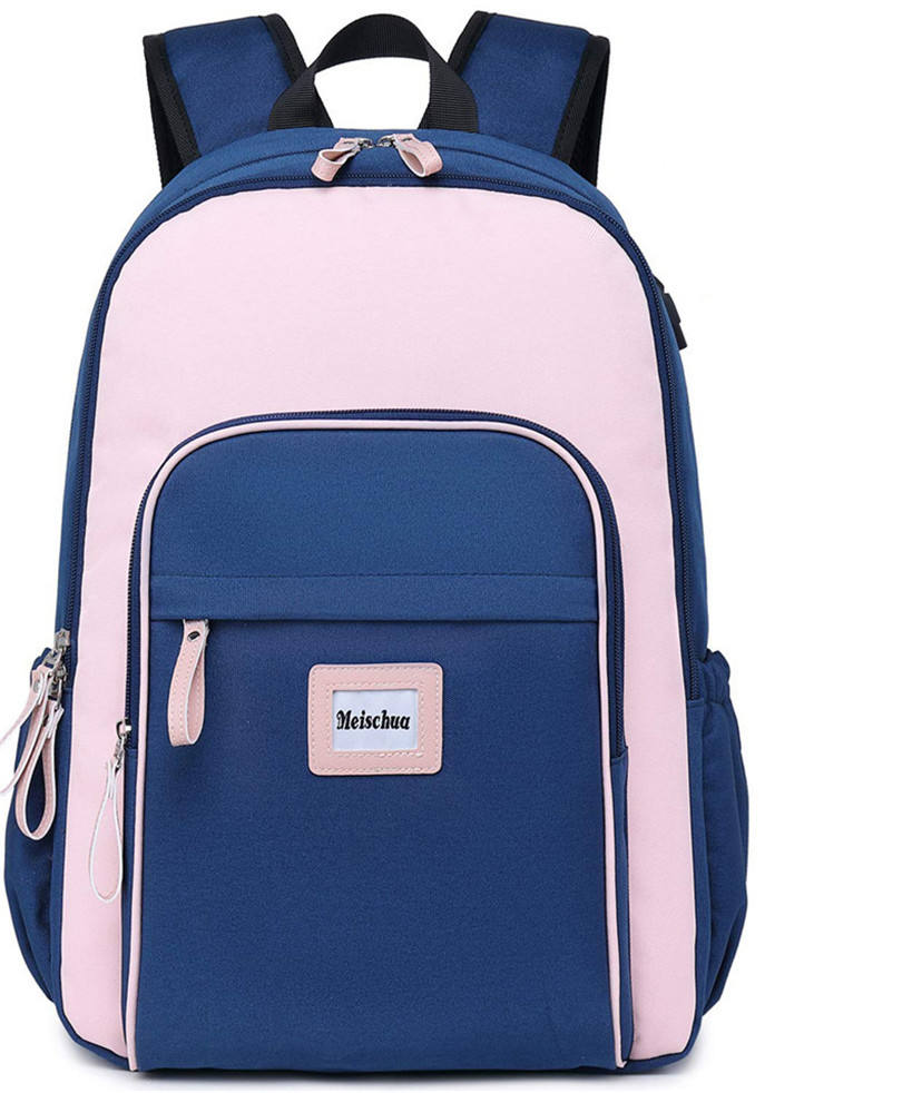 Meisohua Custom nylon children student book bags plain school bag cheap funny teen school backpacks with logo