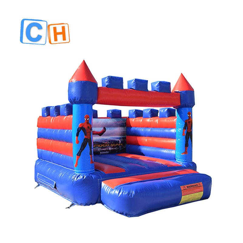 Mini spiderman thmem inflatable castle bouncer jumping for rental outdoor and indoor