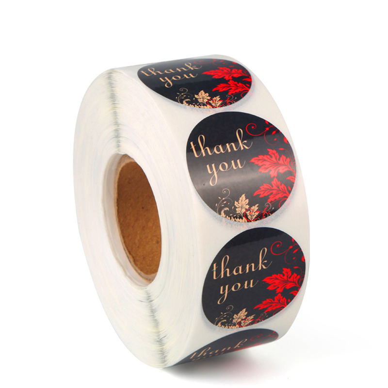 Bloemen Dank U Sticker DIY Geschenkverpakkingen Decoratie Seal Label Papier