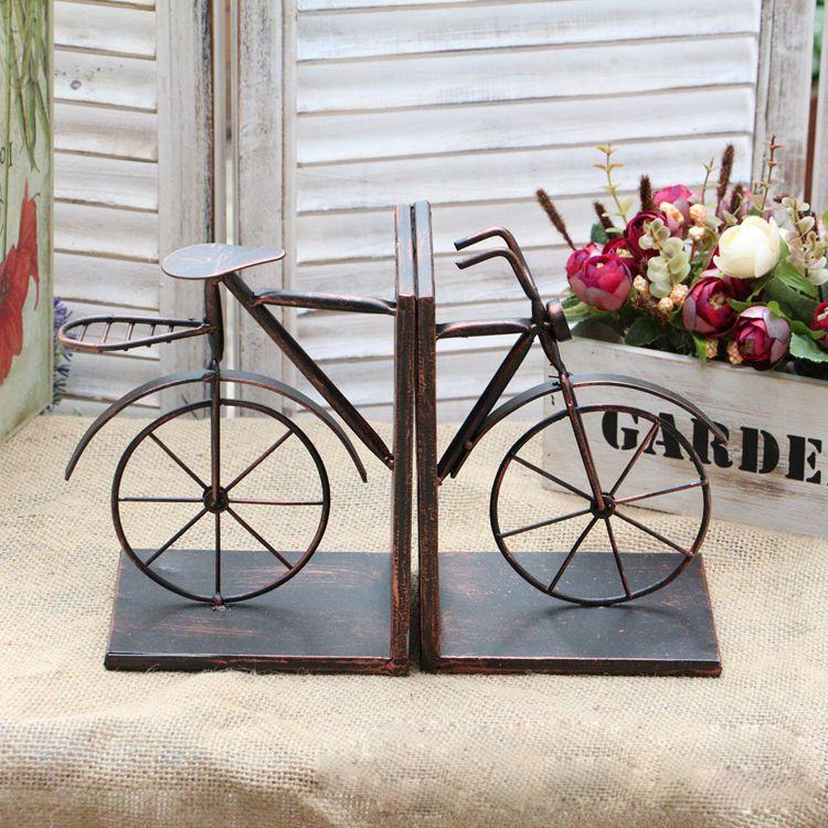 bike shape home accessories antique bookend crafts metal home decor