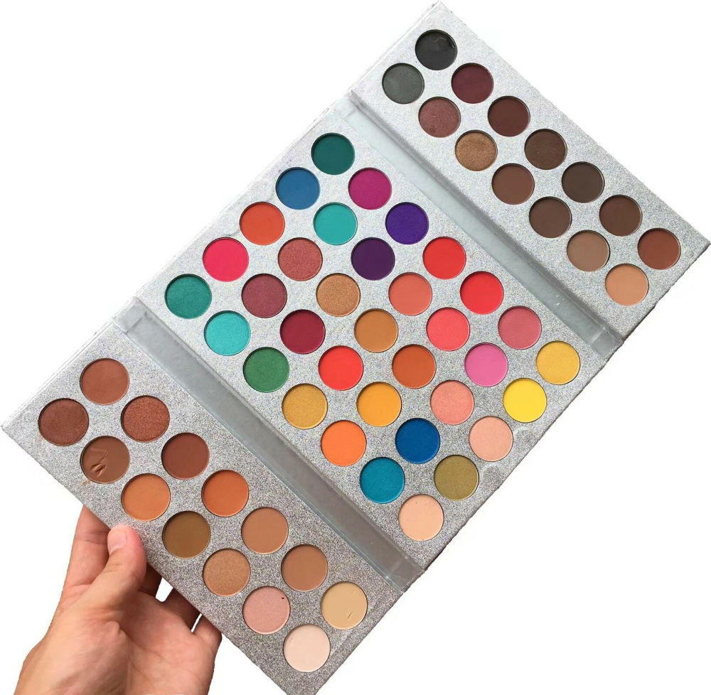 Factory Price Colorful Private Label Cosmetics Long Lasting Cardboard Eye Shadow Palette Makeup