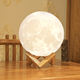 China USB LED Charging Lampe Lune 3D Night Lamp Moon Shaped Lights Nightlight Night Light for Kids