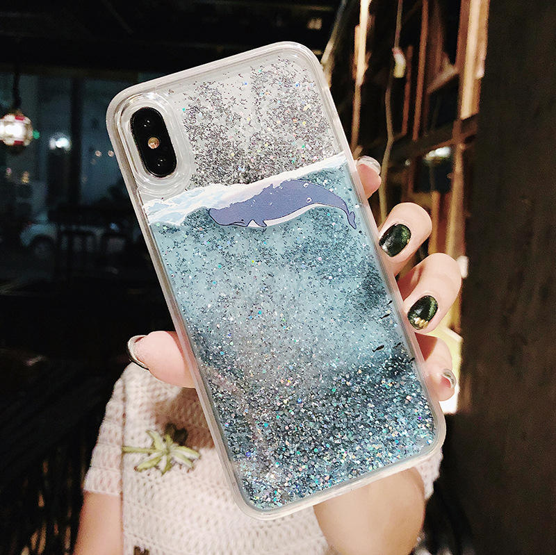 New fashion Sand Liquid Luminous Quicksand Glitter unique phone cases for iphone 11 pro max