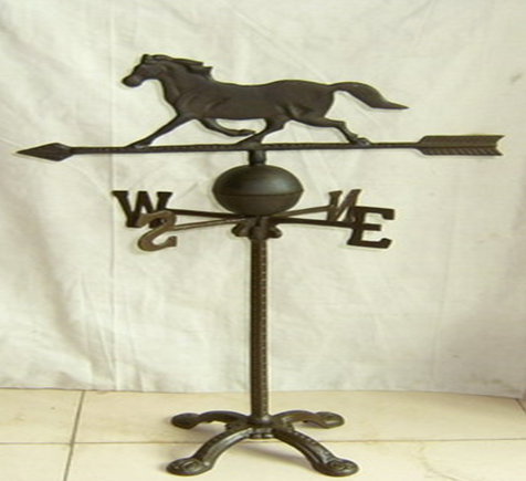 Cast Iron Decorative Horse Weather Wind Vane