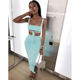 CA0479A summer 2020 new arrivals trendy women clothing two piece set suit bodycon tops and skirt outfits