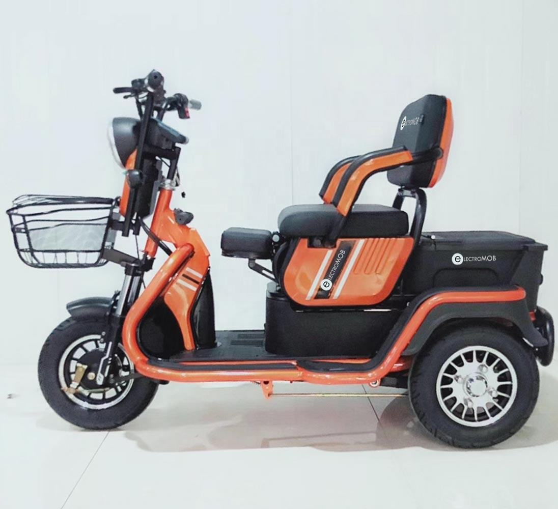 Electric tricycle 650W 500W 350W differiential motor 3 wheel trike CE with for adult passenger and cargo carry