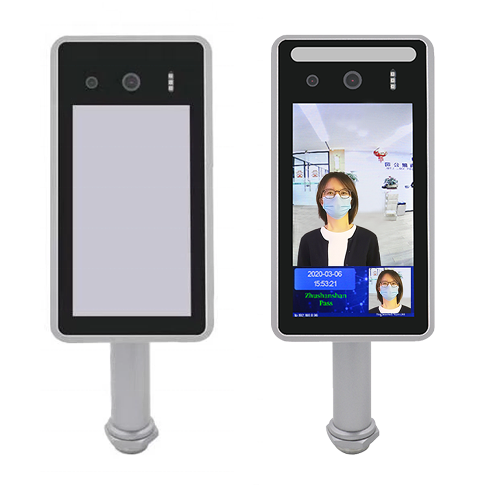 Industry Automatic Face Recognition Human Body Temperature Detection Access Control Linkage Attendance Integrated Camera Machine