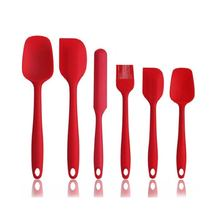 Wholesale  6PCS Baking Tool Set Non-Stick And Heat-Resistant Silicone Spatula Set