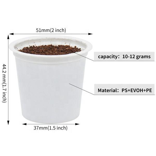 Disposable empty k cup filter coffee capsule with lids