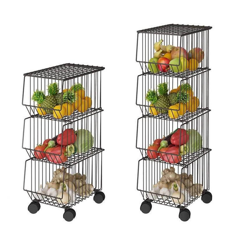 4 Layers Kitchen Dish Drying Living Room Metal Display storage holders & racks Shelves