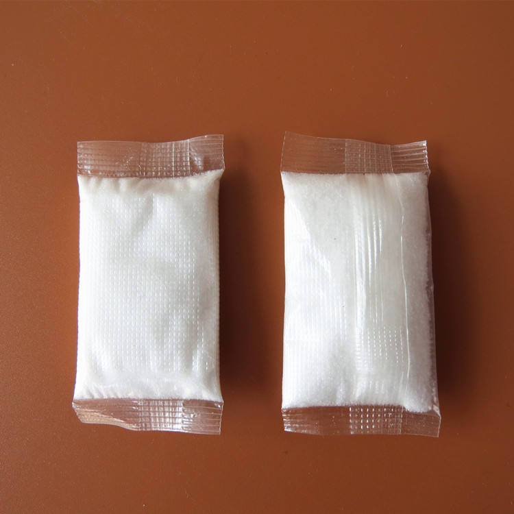 China Dissolve water film chemical SAP pouch super absorbent polymer powder absorb blood urine for medical hospital