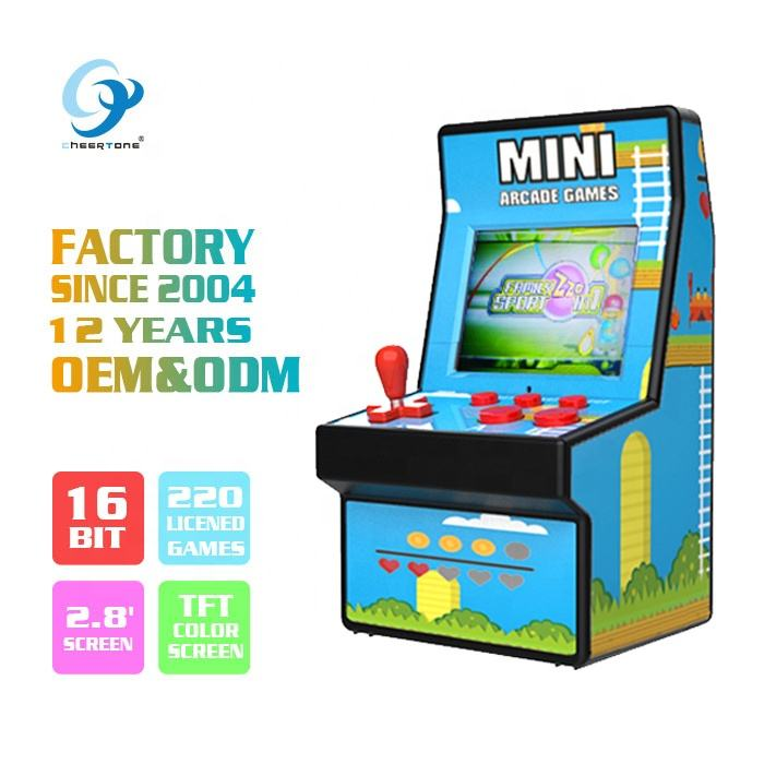 16bit bartop retro mini arcade game machine CT882X 2019 hot selling for kid