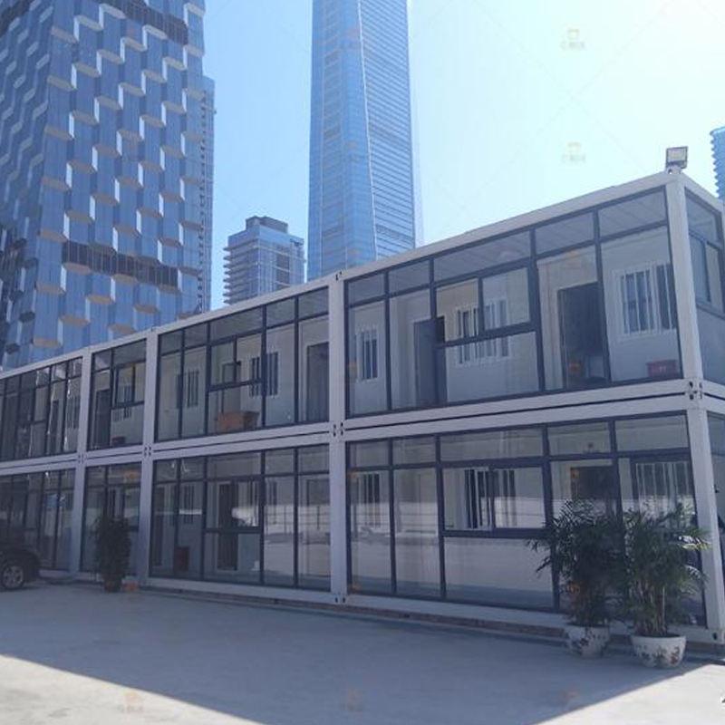 Fábrica de China fabrica barato paquete plano contenedor prefabricado casa como fuera de la Oficina de la construcción