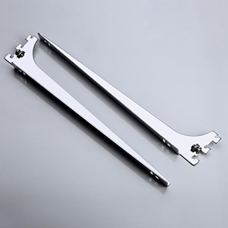 steel plated chrome shelf bracket