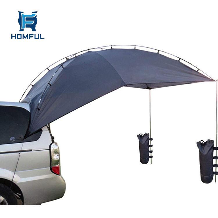 HOMFUL حديقة في الهواء الطلق ظلة المأوى السيارة الخلفي خيمة سيارة المظلة خيمة للمقطورة <span class=keywords><strong>RV</strong></span> السيارات Suv