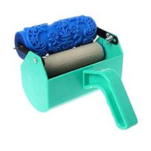 soft rubber pattern texture paint roller with decorate machine for wall