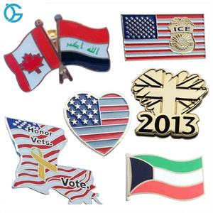 Enamel Metal American USA State Friendship Small Badges Flag Lapel pin