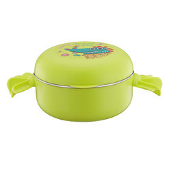 Baby Feeding Supplies Stainless Steel Rice Rice Baby Bowl With Dust Cover