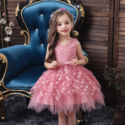 Girls dress irregular summer baby hundred days birthday wash baby dress skirt child 0-5 princess dress2020