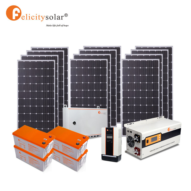 Carport Mounting [ System Hybrid ] Complete Solar Energy System Home 12KW Off Grid Hybrid Solar Power Panel System