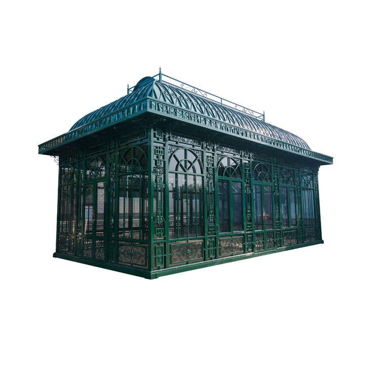 Ancient Style Wrought Iron Steel Gazebo Outdoor Garden