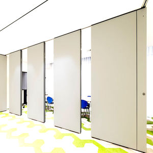 Egood Office decoration room partition acoustical room dividers operable wood sliding folding partition