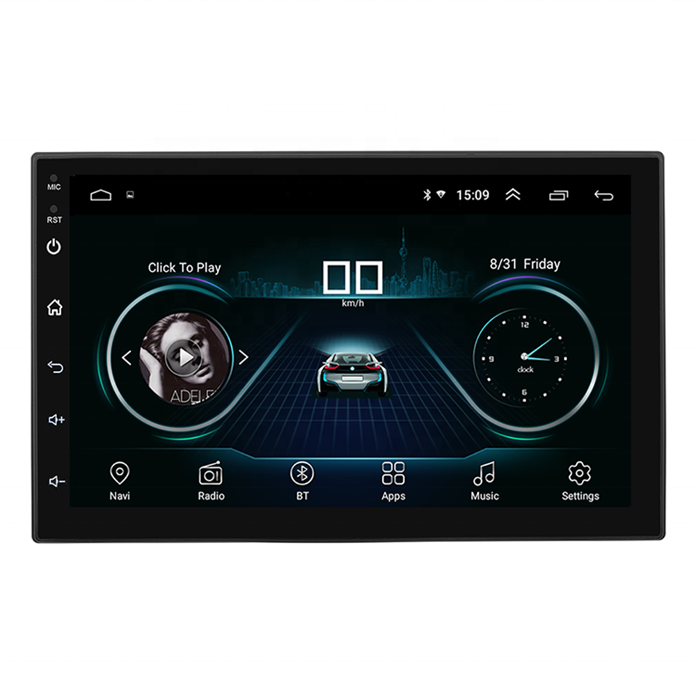 Universele 7 Inch Auto Stereo Gps Android Head Unit Rohs Auto Dvd aAutorradios Multimedia Met Dvd