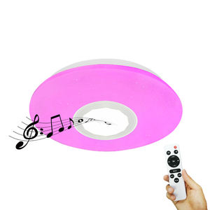 2020 Morden Rgb Indoor Lighting Led Dimmable Music Smart Speaker Remote Control Ceiling